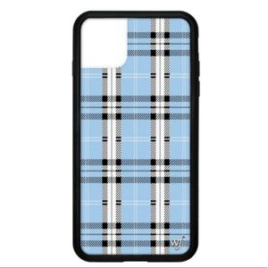 Wildflower Blue Plaid iPhone 11 Pro Max Case